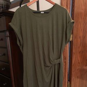 GAP T-short Dress, Olive. Size XXL